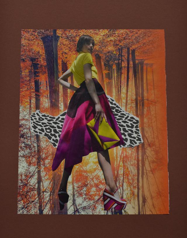 herfst, mode, vrouw